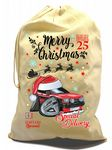 X-Large Cotton Drawcord Koolart Christmas Santa Sack Stocking Gift Bag & Mk1 Fiesta Supersport Image